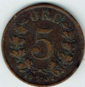 Norway, Five Ore 1902, AVF, WE5500